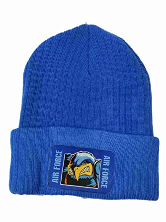 ed8040a20c30af Real Characters Men's Blue Air Force Force Long Beanie Stocking Cap Hat at  Amazon Men's Clothing store: