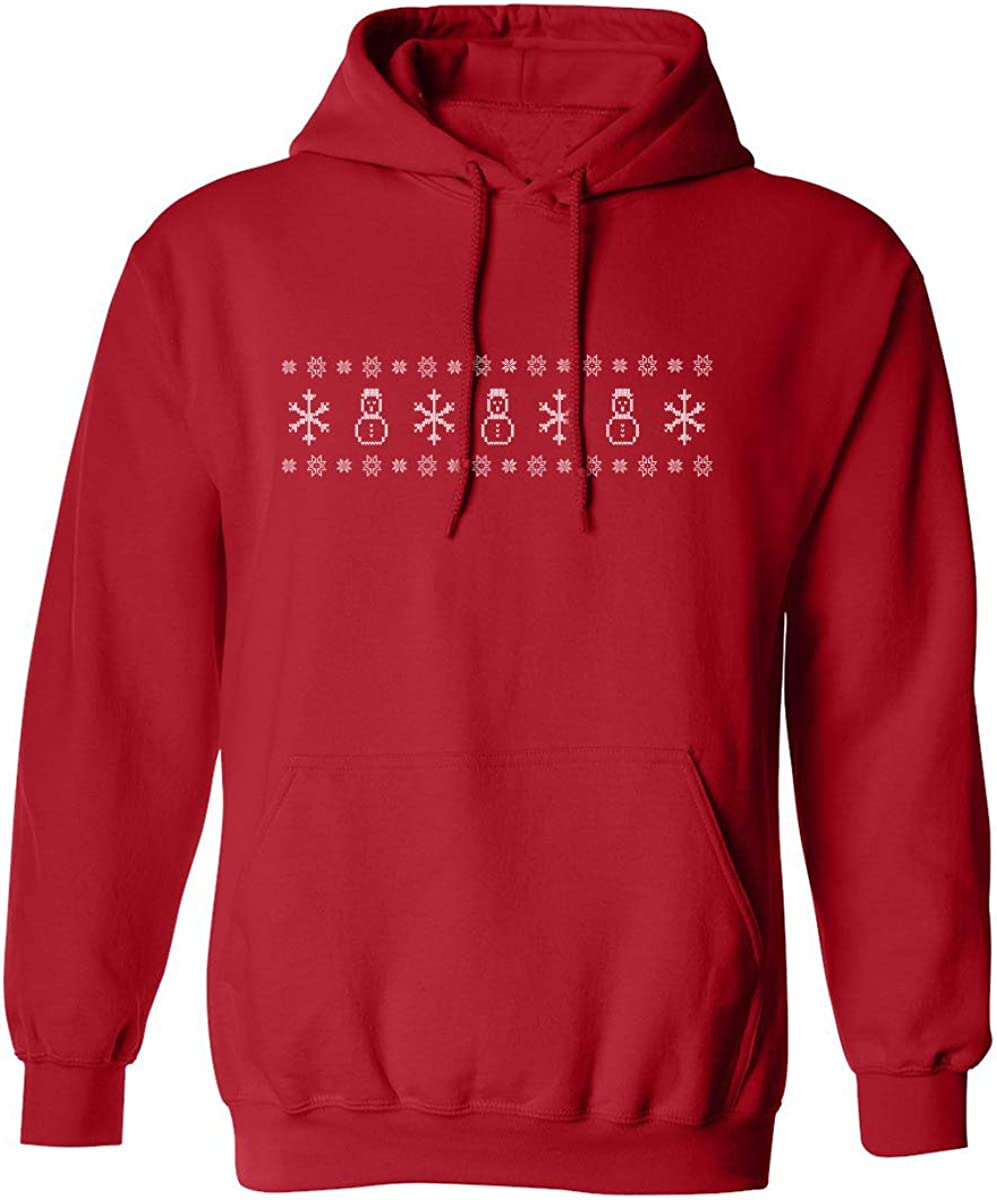 Snowman Pattern Adult Hooded Sweatshirt