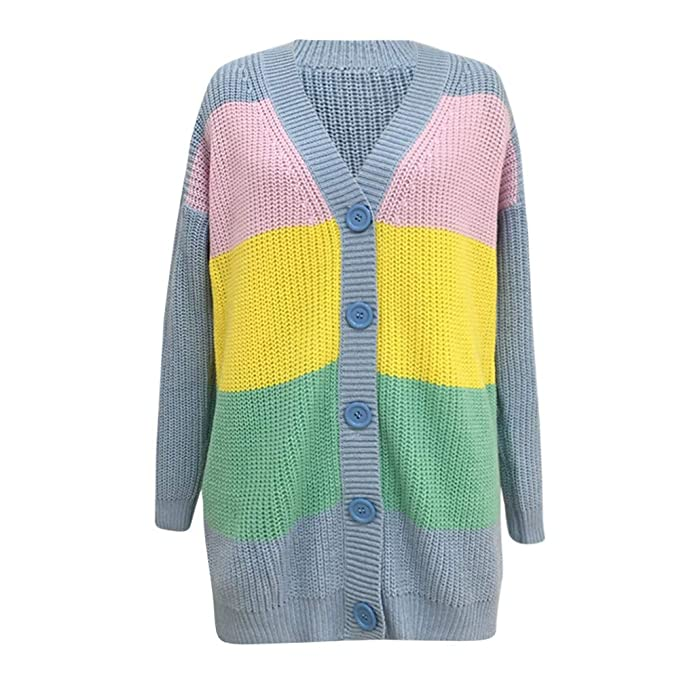 5d0982aa1c Amazon.com  Muramba Clearance Womens Multicolor Sweater Knitted Long  Cardigan Coat  Clothing