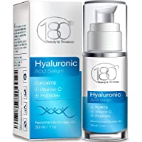 Hyaluronic Acid Serum for Face - Forte Triple Moisturizing Formula with Vitamin C by 180 Cosmetics Beauty is Timeless…