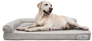 PetFusion Cama de Espuma viscoelástica para Perro (Mejor salón) con Forro Impermeable y Funda