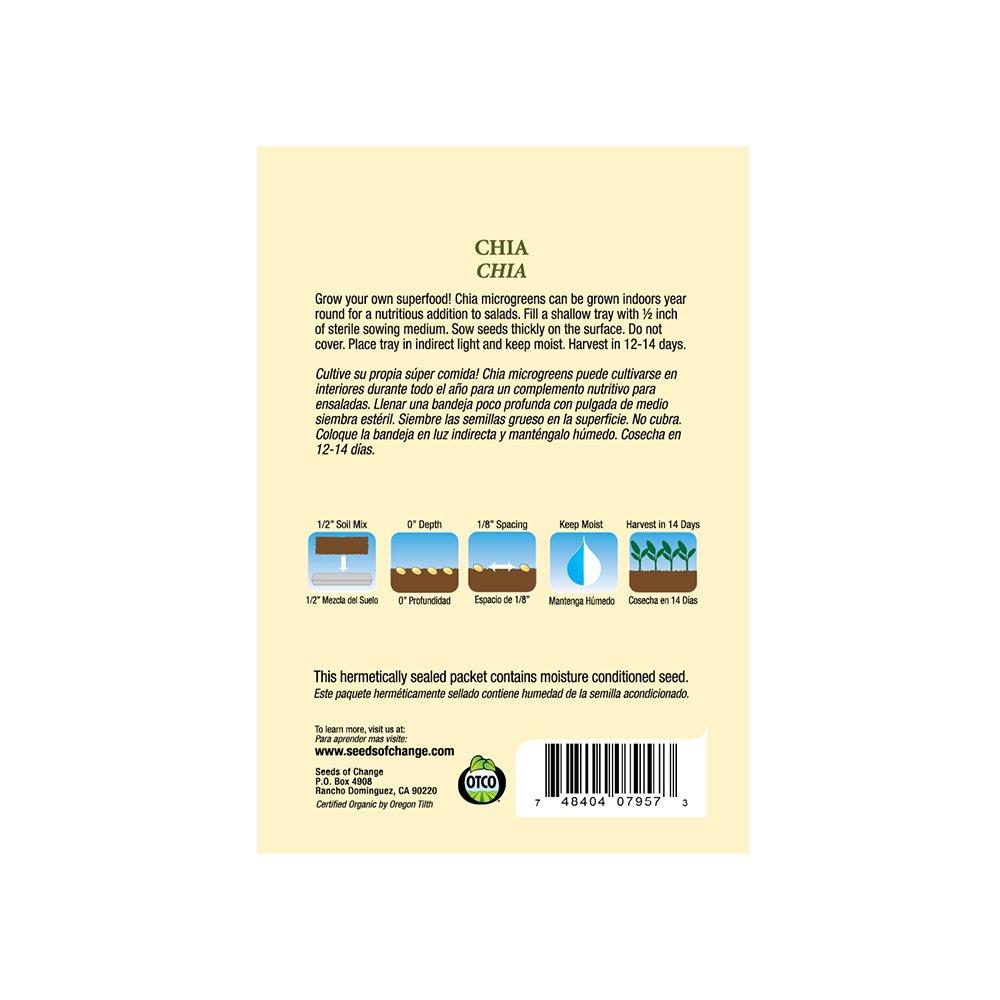 Amazon.com : Seeds Of Change 07957 Certified Organic Chia Seeds : Garden & Outdoor