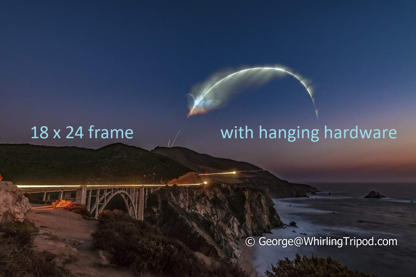 SpaceX Falcon 9's First Landing at California - Vandenberg (FRAMED PRINT)