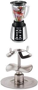 Oster BVCB07-Z 6-Cup Glass Jar 7-Speed Blender, Brushed Stainless and Oster Milkshake Blade Bundle