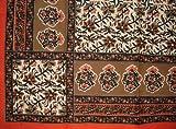 Floral Print Tapestry Cotton Bedspread 104'' x 88'' Full Orange