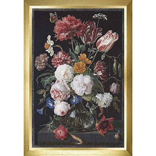 Thea Gouverneur Still Life W/Flowers on Aida  Cross Stitch K