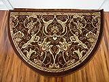Art Carpet 841864119459 Hearth Rugs Collection, 2′ x 3′, Brown/Dark Beige