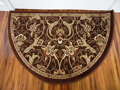 Art Carpet 841864119459 Hearth Rugs Collection, 2' x 3', Brown/Dark Beige (Half Moon Fireplace Rug compare prices)