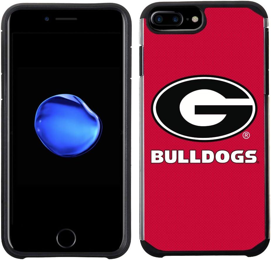 Prime Brands Group Textured Team Color Cell Phone Case for Apple iPhone 8 Plus/7 Plus/6S Plus/6 Plus - NCAA Licensed University of Georgia Bulldogs (NCAA-TX1-i8P-GA)