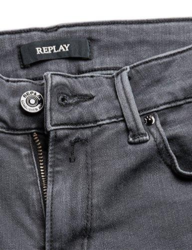 Gris para Dark Denim Jeans REPLAY Hyperflex Mujer Luz 10 Grey Ajustados qIwR4gnYR