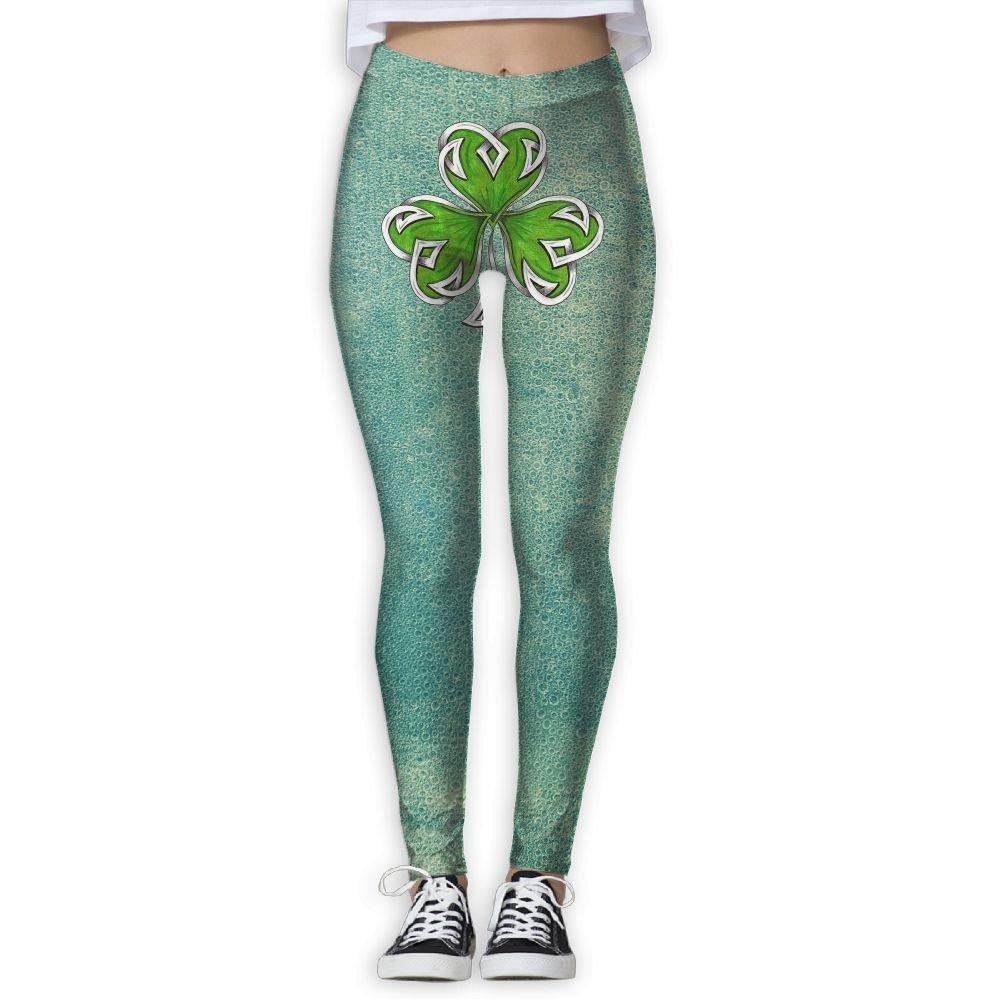 La mujer celta trébol diseño de tatuaje Flexible pantalones de ...