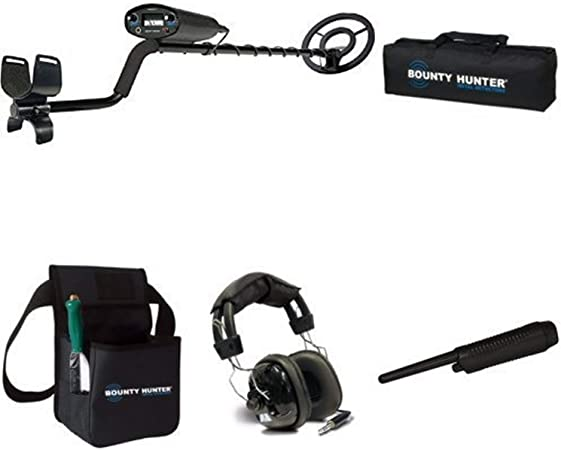Bounty Hunter TK4 Tracker IV Metal Detector with carry bag, pinpointer, headphones and combo kit