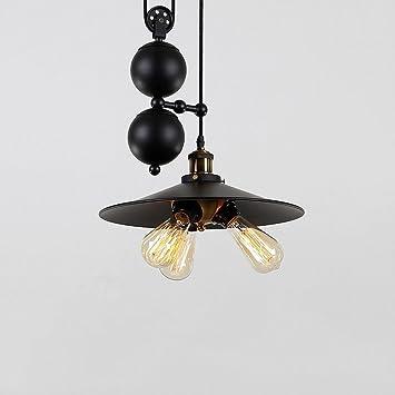 polea Creativa Tres MOMO lámpara Loft Industrial Retro 43LAqc5jR