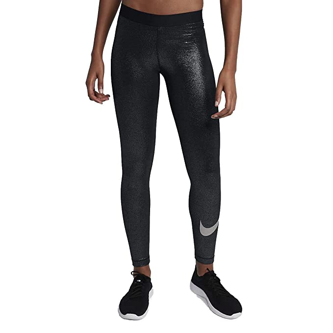 Nike Womens Pro Cool Dri-Fit Sparkle Swoosh Tight Pants at Amazon ... 3a4534622e9a
