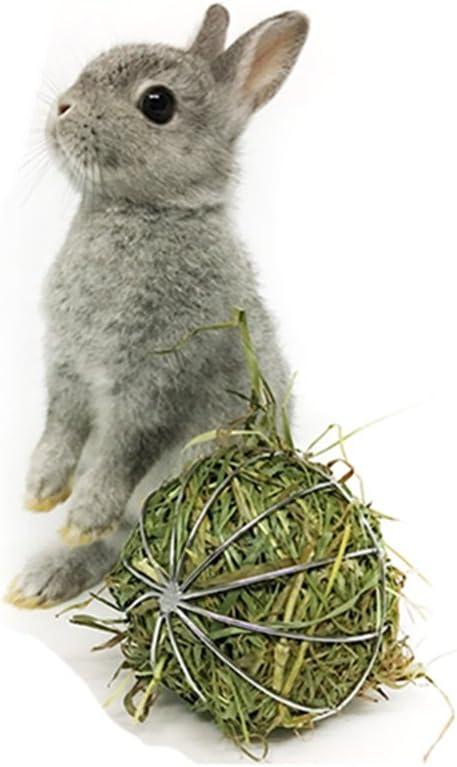 Toruiwa Juguete de conejo heno conejos Colgante de bola ...