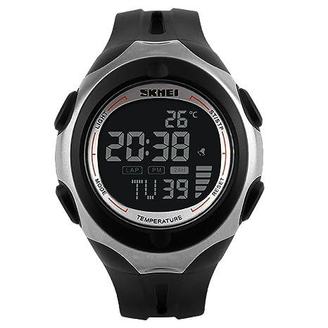 Skmei 1080 al aire libre para hombre relojes deportivos de temperatura digital reloj de pulsera 50m