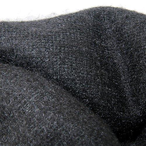 COOLCEPT Damen Stiefel Ohne Verschluss Black