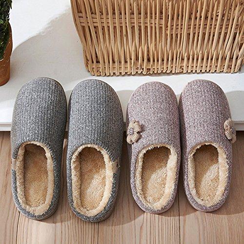 dérapantes cachemire vert d'intérieur femmes pantoufles en pour Pantoufles la tricotées coton chaussures S respirantes pour hommes hommes pour anti CHNHIRA et maison wtPRaqx