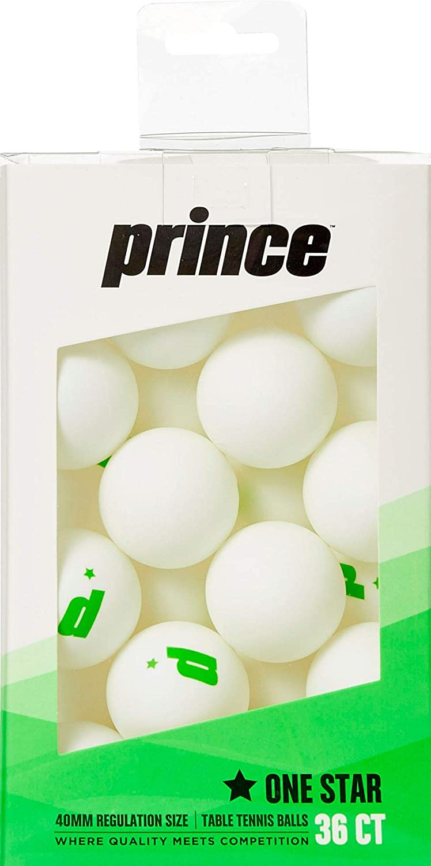 Prince One Star ホワイト卓球ボール 36個パック B07HVY35L4