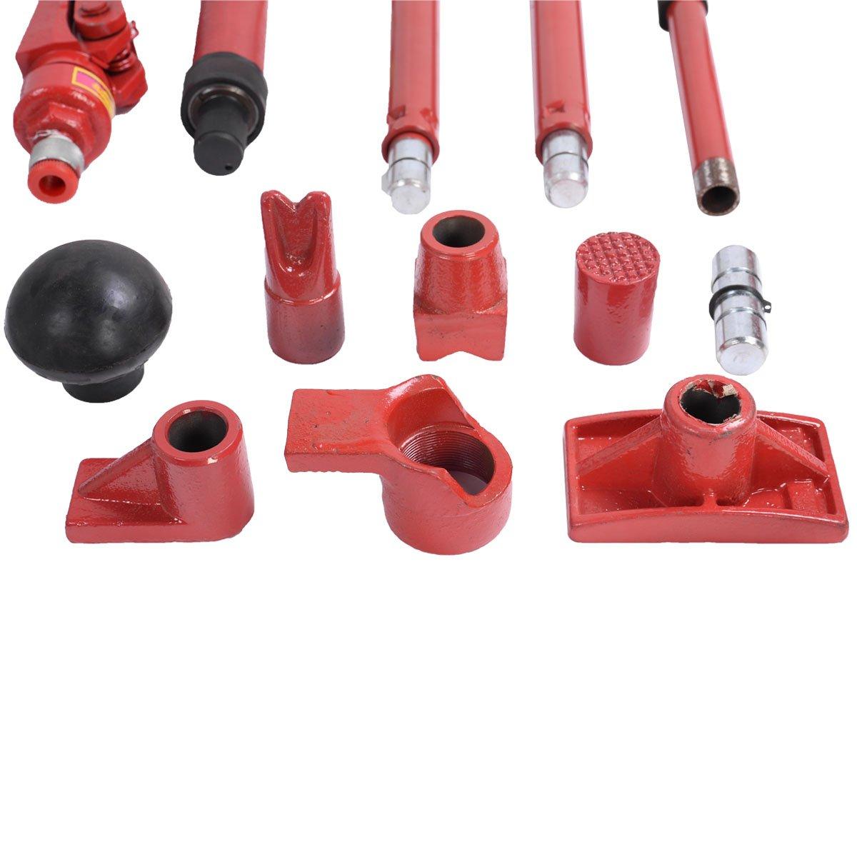 Goplus 4 Ton Porta Power Hydraulic Jack Body Frame Repair Kit Auto Shop Tool Heavy Set w/ Carrying Case by Goplus (Image #4)