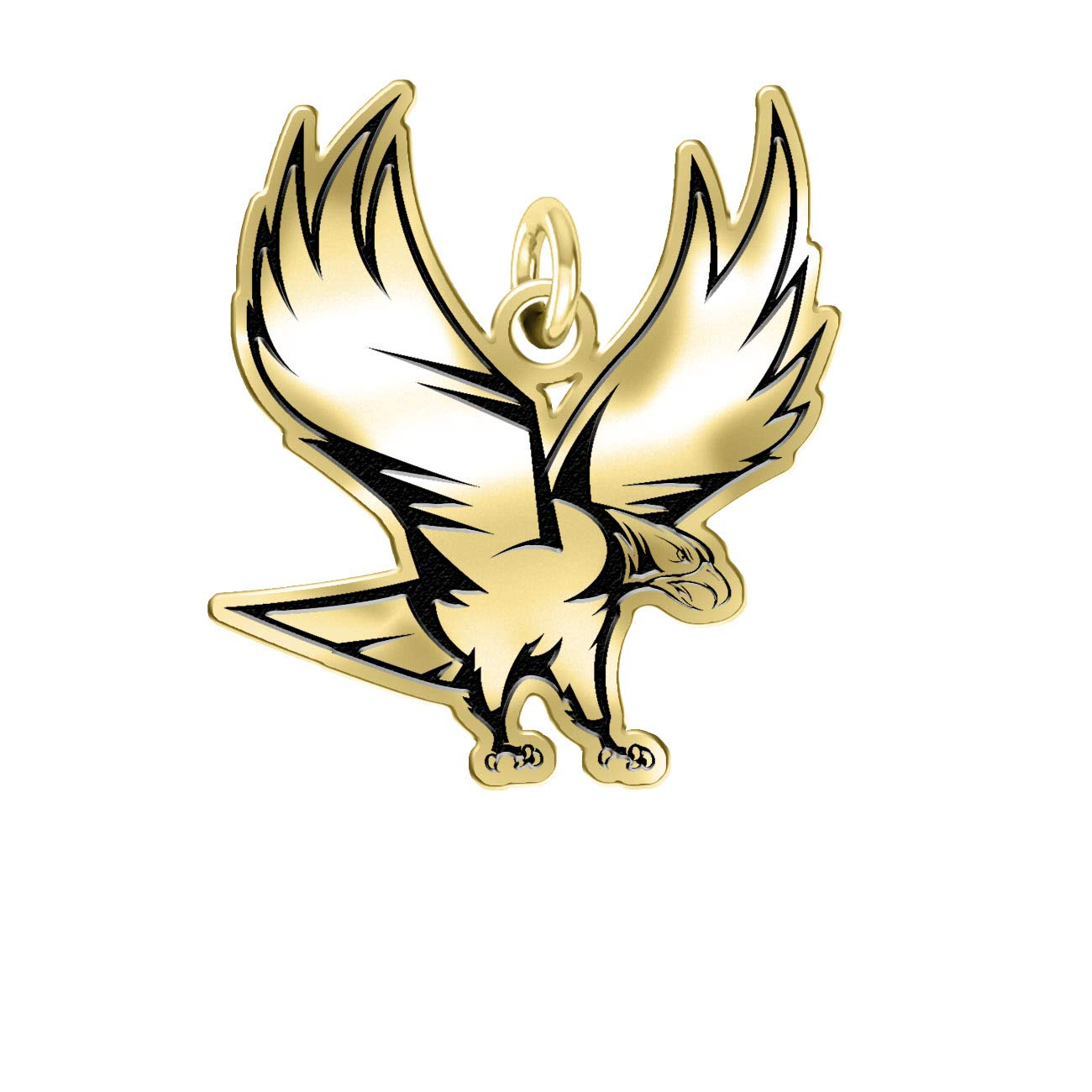 North Carolina Central Eagles 14k Yellow Gold Cut Out Logo College Charm