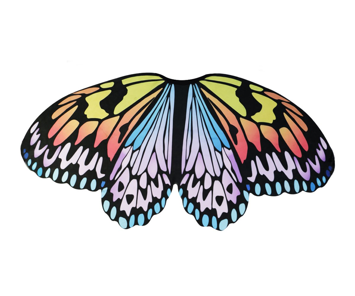 Kids Fairy Butterfly Wings Costume for Girls--Princess Dress up--Pretend Play Party Favors(#1 Rainbow Wings)
