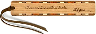 product image for Thomas Jefferson Books Quote Engraved Wooden Bookmark with Suede Tassel - Search B072KTH9WS to See Personalized Version