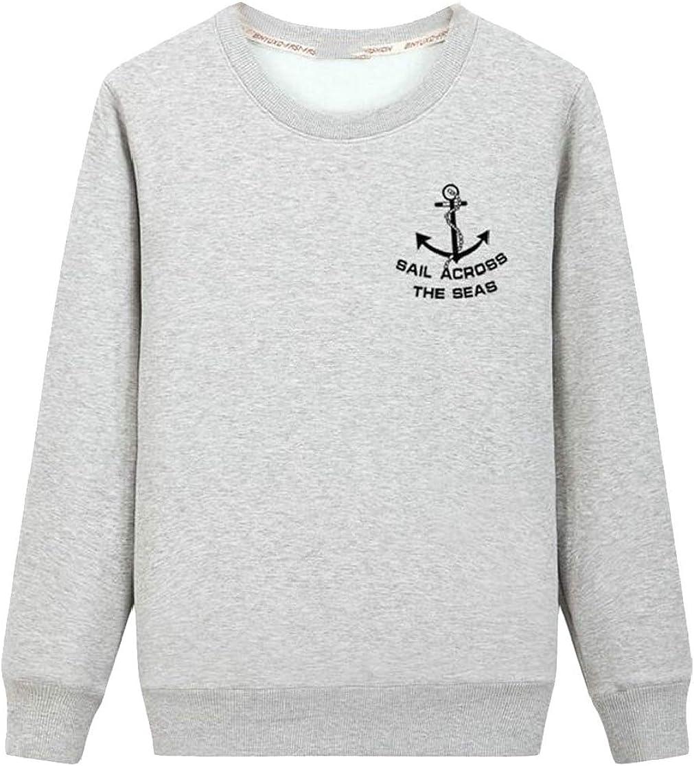 Macondoo Mens Crewneck Wool Lined Vogue Fleece Pullover Sweatshirts Jacket