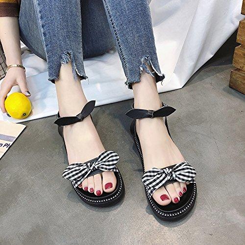 dita spiaggia di sandali Onorevoli dolce EU antislittamento da estate moda YMFIE comfort UE 36 scarpe piedi dei casual prua 39 IZYzzx