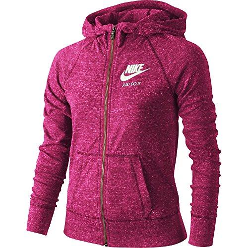 Girl's Nike Sportswear Gym Vintage Hoodie Vivid Pink/Sail Size X-Large