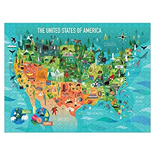 Americanflat 500 Piece Jigsaw Puzzle, 18x24 Inches, USA Map Art by Amanda Shufflebotham