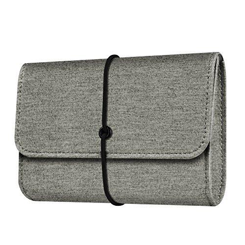 Fintie PU Leather Storage Pouch Bag Electronics Organizer Ca