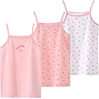 Allesgut Camiseta de tirantes de algodón Camis para niñas con correa de espagueti, 3 unidades, para 3 – 12 años