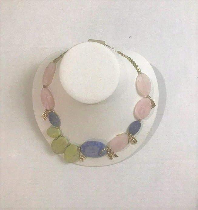 65b6aa94e963d1 Amazon.com: Anthropologie Pia Asymmetrical Bib Necklace - NWT: Jewelry