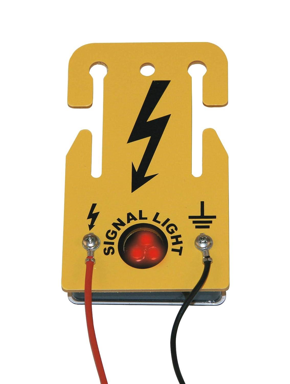 Albert Kerbl Panneau de signalisation équipé d'un voyant lumineux pour clôture électrique - art. 441223