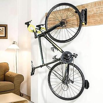 Aparcabicicletas Soporte de exhibición de estacionamiento para bicicletas montado en la pared para carretera o montaña, Bastidor horizontal para guardar bicicletas, Soporte para bicicleta abatible: Amazon.es: Bricolaje y herramientas