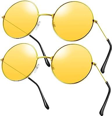 2 Pares Gafas de Sol Anteojos de Hippies Gafas de Sol Estilo ...