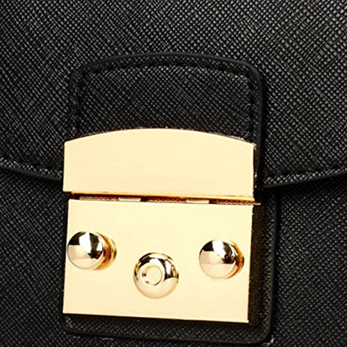 Quotidien Mesdames Hmwhjp Tendance Carréépaule Messenger Yellow Verrouillage Petit black Paquet Sac De Chaîne 6OxnUAx5