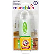 Munchkin Arm & Hammer Diaper Bag Dispenser with Bags, Lavender Scent, Colors May Vary 1 ea ( Pack of 2)