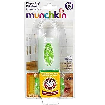 Munchkin Arm and Hammer Bolsa de Pañales dispensador Colors May Vary Talla:2 Sets: Amazon.es: Bebé