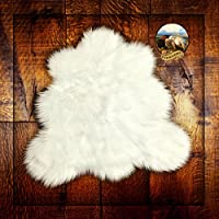 White Bear Skin Rug - Sheepskin - Shag Faux Fur (2x4)