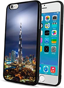 Cell Phone Case Fit iPhone 6 Plus & iPhone 6s Plus 5.5in Architecture Burj Khalifa City Dubai Modern Night