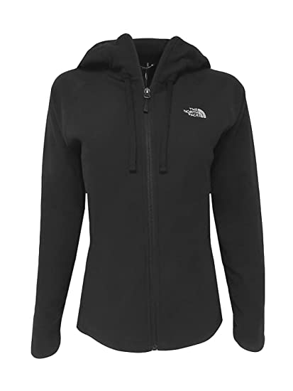 eff445169 The North Face Womens 100 Tundra Full Zip Hooded Jacket Black Size Medium