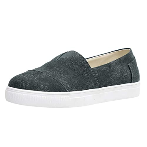 HULKY Baskets Femme Sneakers, Chaussures Plates Vintage de