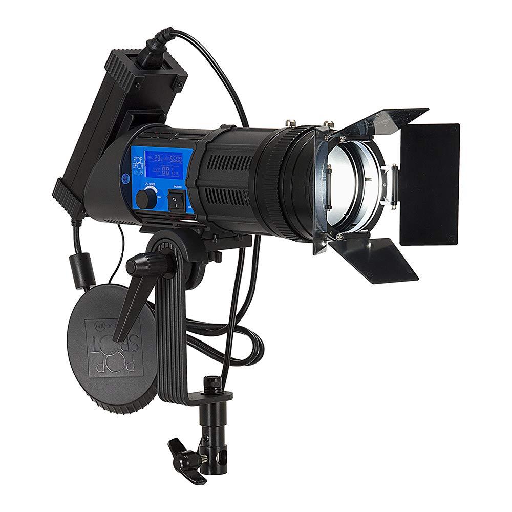 Fotodiox Pro PopSpot Ultra 100 Daylight - Focusing LED Light Kit, High-Intensity Daylight LED 5600k Focusable Spot Light for Still and Video by Fotodiox