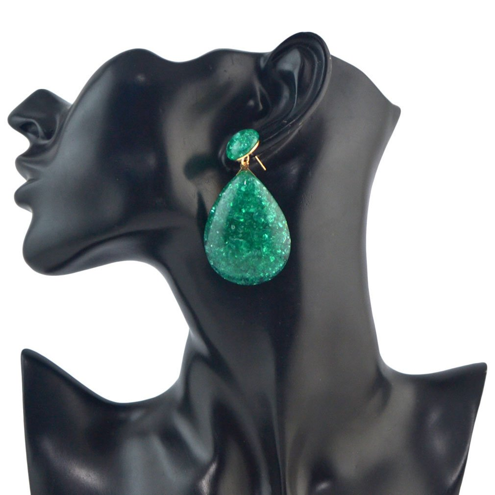 Jinxian Topaz Drop Earrings Boho Dangling Vintage Studs