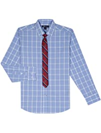 79e4cb9b Tommy Hilfiger Boys' Long Sleeve Dress Shirt with Tie