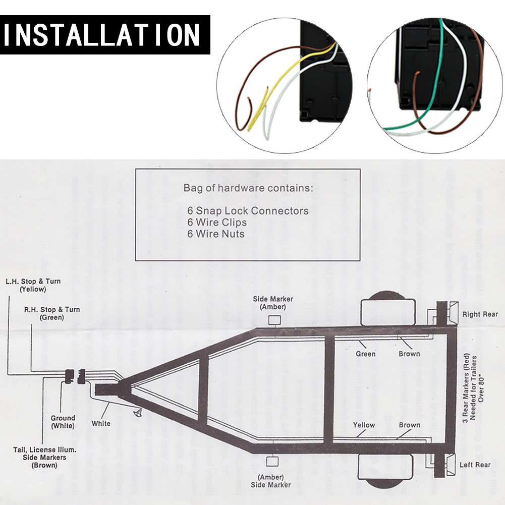 Sgqcar Led Boat Trailer Lights 12v Water Resistant Tail On Wiring Diagram For Light Kit Stop Turn Running