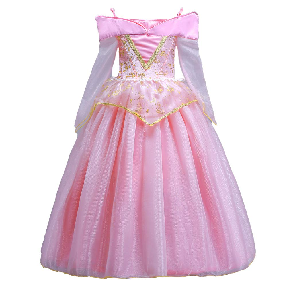 ELSA & ANNA® Princesa Disfraz Traje Parte Las Niñas Vestido Sleeping Beauty Vestido Aurora Vestido (Girls Princess Fancy Dress) ES-SLP01 (2-3 Años, ...