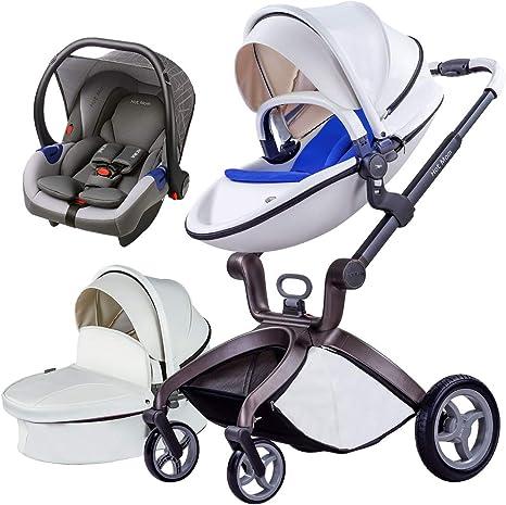 Opinión sobre Cochecito de bebé Hot Mom 3 en 1 con Sillas de paseo, 2020 New Lifestyle F22 con 3 piezas - Blanco 3-1